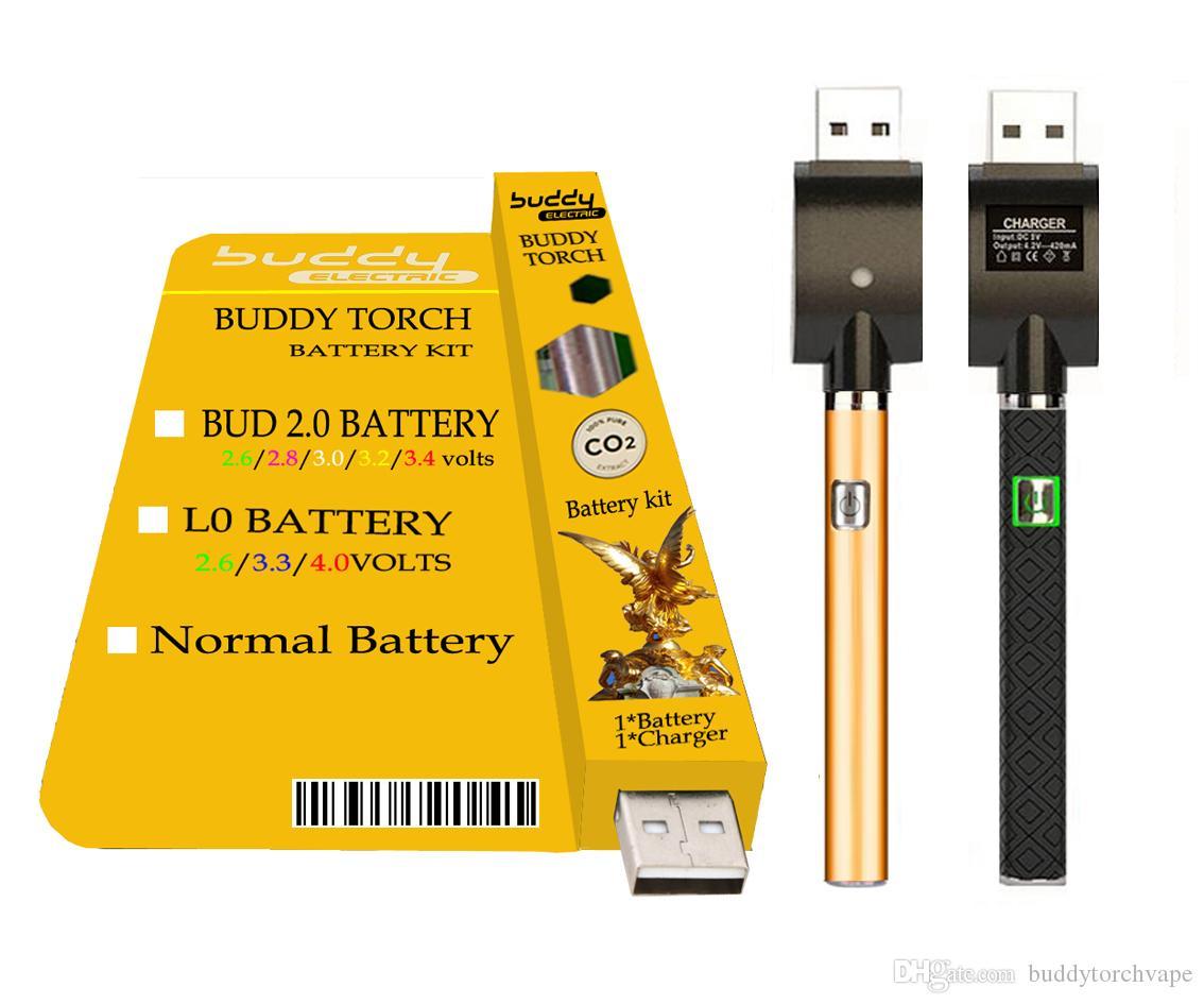 Батарея Buddy Torch BT X8 Мультивольтная и разогревающая батарея L0 с зарядным устройством USB BUD touch Vaporizer