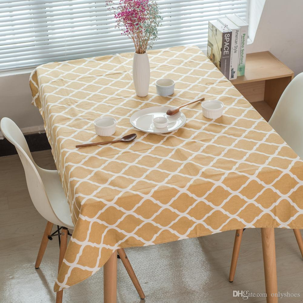 Fashion Tablecloths Yellow Check Pattern Dinner Picnic Table Cover Various  Size For Choosing Cotton Liene Materials Cotton Tablecloths Wholesale Table  ...