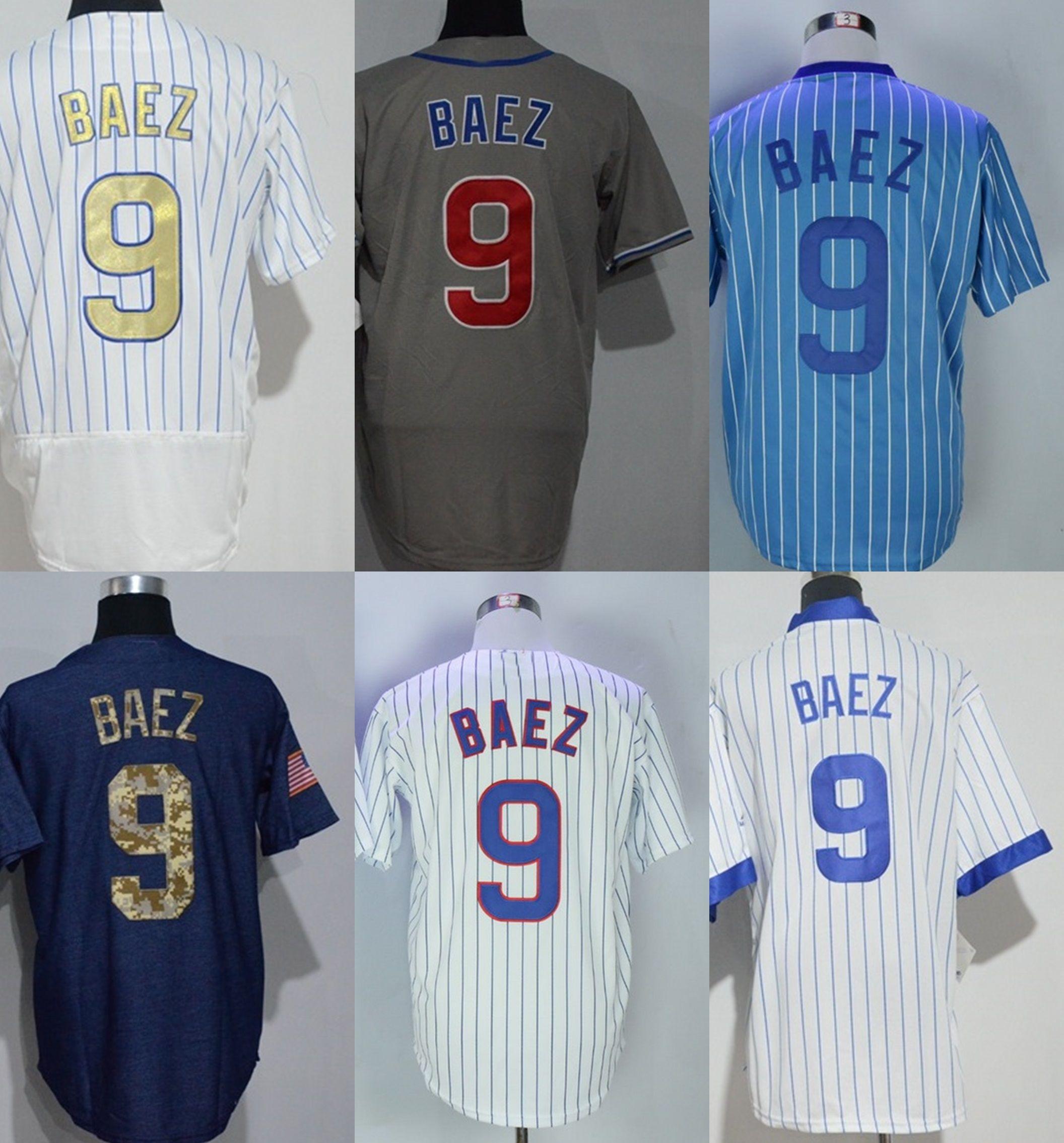 179f45a5a87 ... Cubs Authentic Blue Flex Base Jersey - Javier Baez 2017 100%  Embrodiered Cheap Quality Mens Womens Kids Chicago 9 Javier Baez Grey Blue  White ...