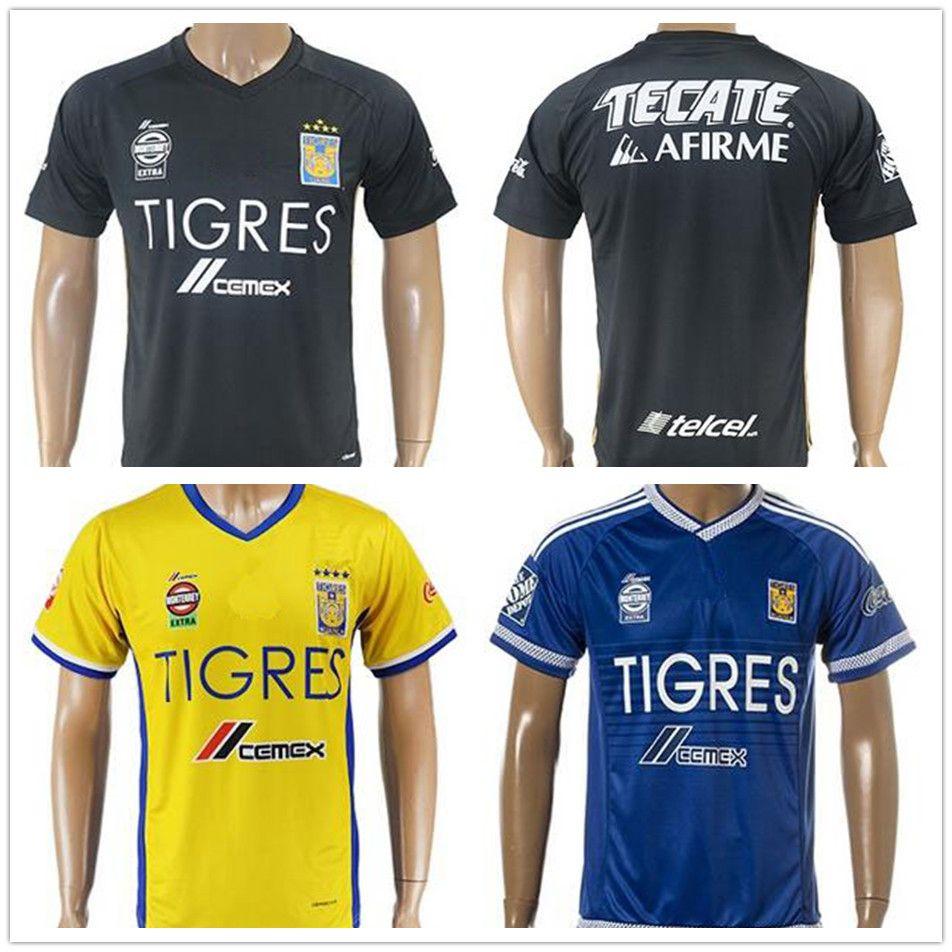 2017 2018 Mexican League Football Club Tigres UANL Soccer Jerseys GIGNAC  GUERRON SOBIS DUENAS Blank Customized Name Home Away Football Shirt Tigres  UANL ... 1779b7d46