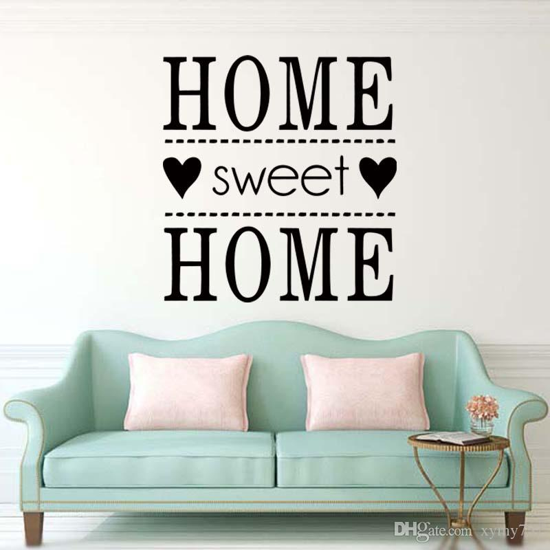/'Home Sweet Home/' Wall Art Quote Vinyl wall sticker DIY Wall Decal HIGH QUALITY