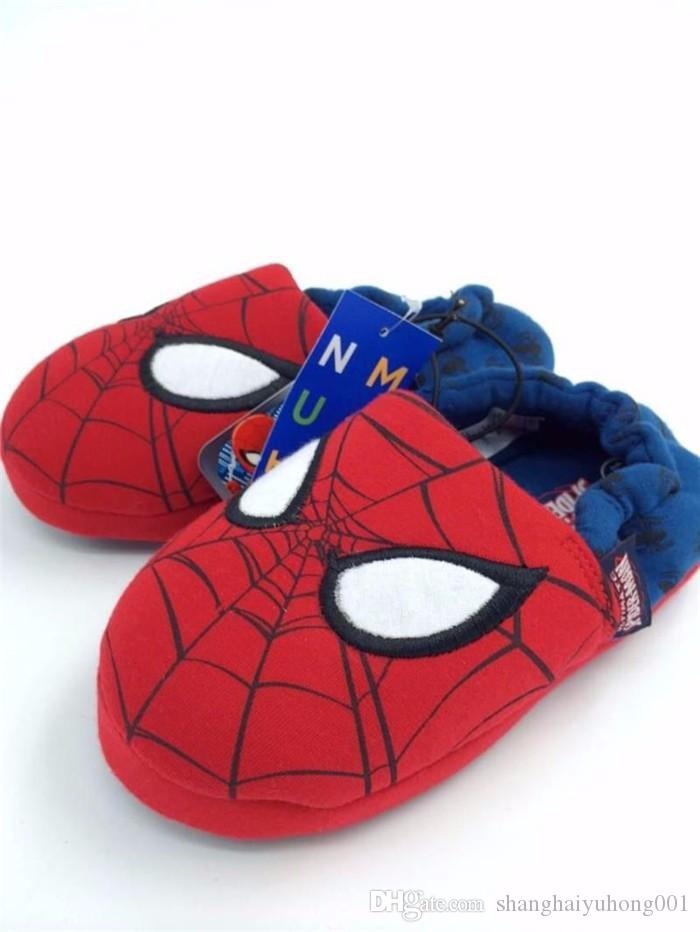 timeless design 14f25 817b5 New Fashion Autumn Child Star Spiderman Shoes Red Blue Slippers Color  Children Fashion Casual Shoes 26 37 Slipper Shoes For Girls Boys Size 1  Slippers From ...