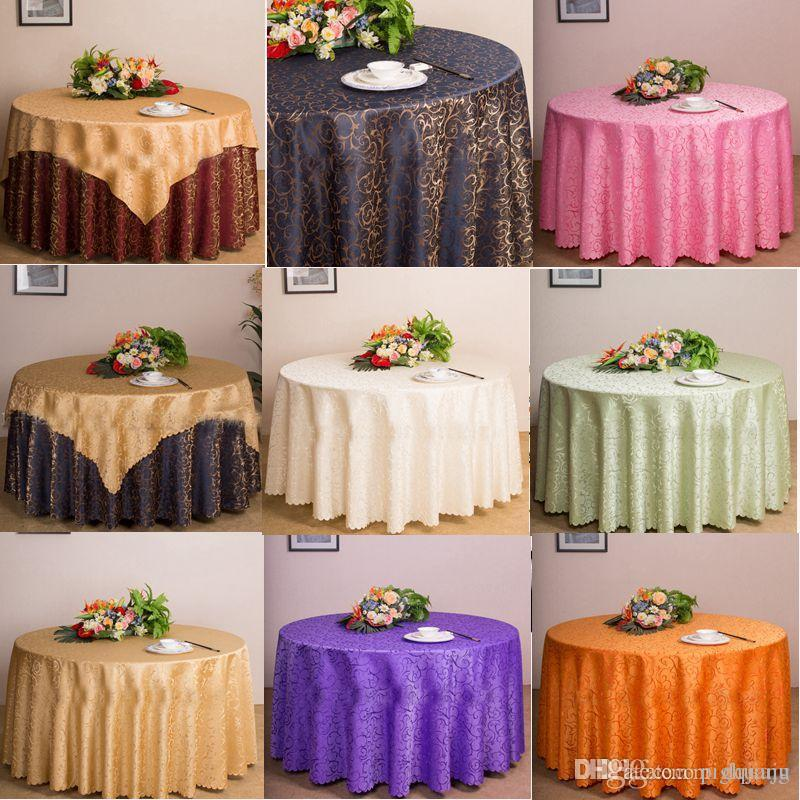 Table Cloth Cover Round For Banquet Wedding Party Decoration Hotel Tables Fabric Tablecloth Home Textile White Tablecloths Linen