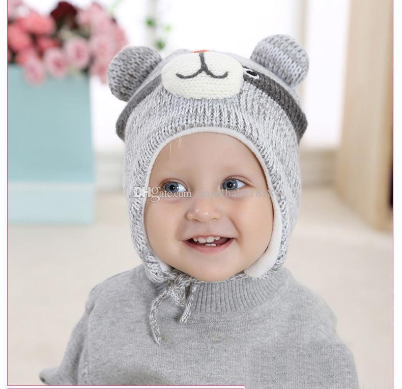 Acquista Cappelli Bambini 2017 Neonati Ragazzi E Neonati Cappellini A  Neonati Bambini Autunno Inverno Beanies Calde Accessori Bambini A  70.06  Dal ... 4f69f278133b
