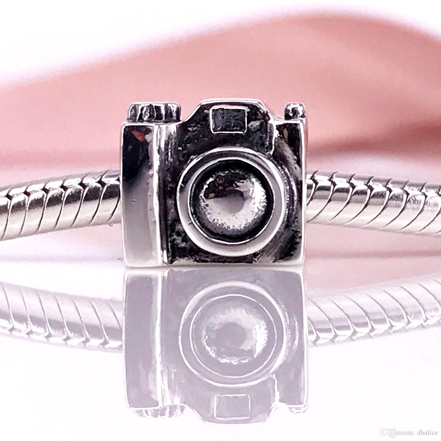 1807cfcebb4 2019 Authentic 925 Sterling Silver Camera Charm Fit DIY Pandora Bracelet  And Necklace 790961 From Dhalice