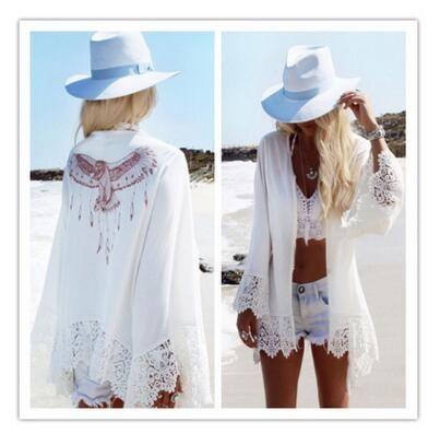 0931077bdd6 2019 Bikini Beach Cover Ups Skirt Printed Eagle Pattern Long Cardigan  Blouses Bohemian Vacation Seaside Shirts Holiday Beachwear Swimwear Tops  From ...
