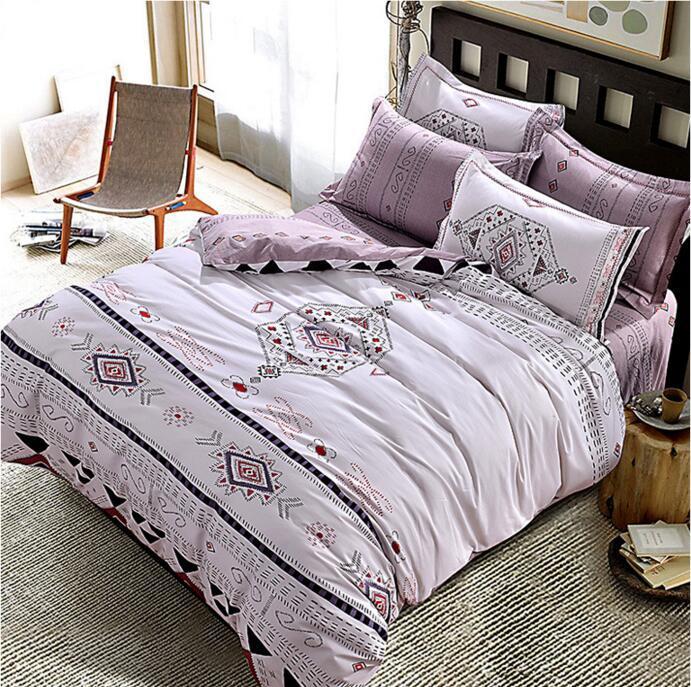 Coton Mandala Style Linge De Lit Géométrique Ponçage Tissu En Coton Queen King size Housse De Couette Ensemble Literie