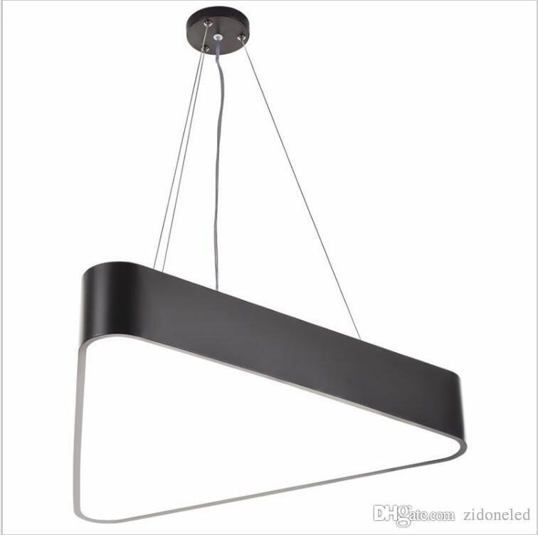 Modern lustre luminaire triangle led pendant light office pendant lamp indoor lighting fixture lampadas suspension lamp pendant lights online lantern