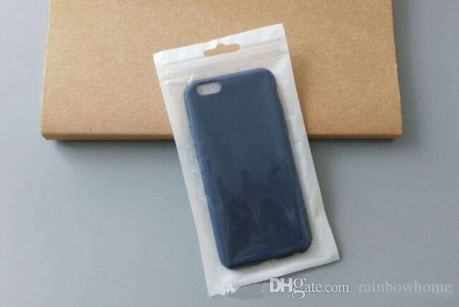 Limpar branco pérola de Plástico Poli OPP embalagem zíper Zip lock Pacotes de varejo caixas de saco para cabo micro usb iphone 6s 7 plus samsung s8