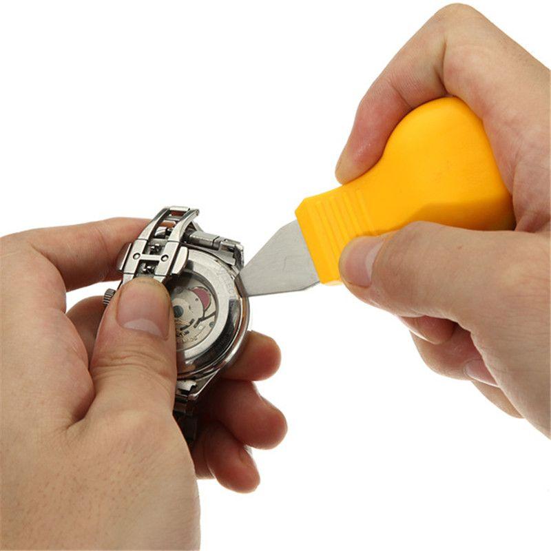 Регулируемый инструмент для ремонта часов из нержавеющей стали - открывашка задней крышки / гаечный ключ для замены батареи