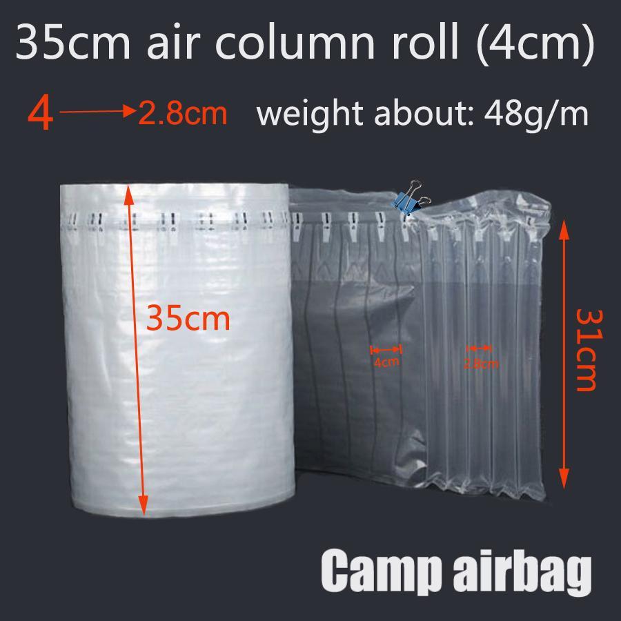 35см Wide Ролл Надувного воздуха пневмооболочка воздух Колонок 4см Буфер сумка защиты продукта хрупких товаров