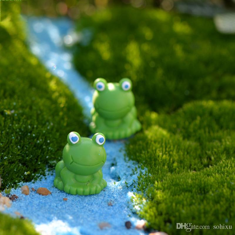 2019 Cartoon Frog Fairy Garden Home Decor Terrarium Figurines Baison
