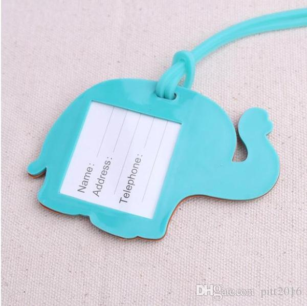 High Quality Lucky elephant Luggage Tag baby shower party Favor wedding bridal shower Favor party gifts