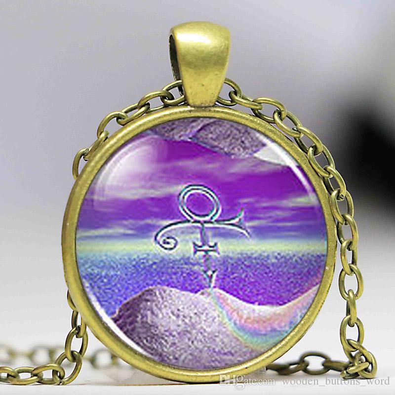 Steampunk 2017 New Vintage Prince RIP Ankh Sign Symbol Logo Purple Rain  Necklace Pendant Charm Jewelry Gift Women Men Chain