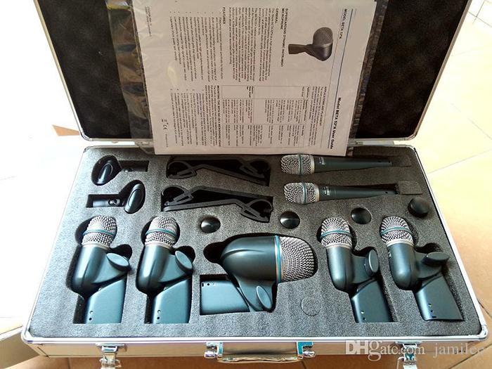 Banda profissional equipamentos de áudio BETA MK7 XLR Kit Microfone DMK7 Tambor 7 DRUM Mics Com Dois BETA57A Quatro BETA56A Um BETA52A
