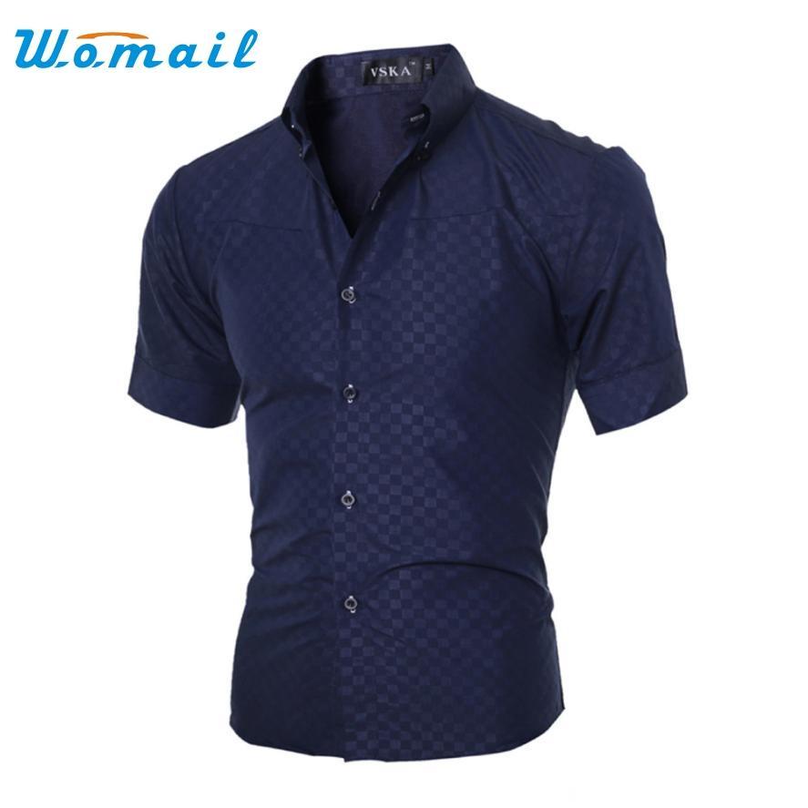 Wholesale Men Short Sleeve Shirt Chemise Homme Men Shirt