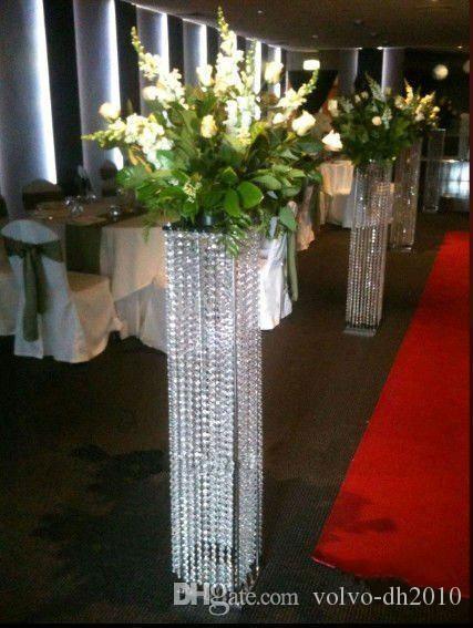 White Pillars Stands Flowers For Weddings Floor Standing
