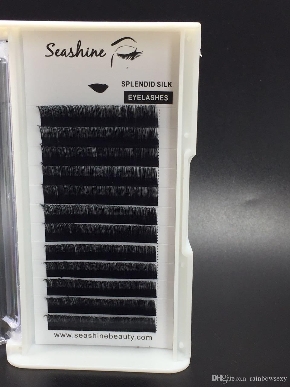 Seashine L Curl 2017 новый наращивание ложных ресниц искусственной норки индивидуальный eyelashfalse ресниц объем ресниц ручной работы высокое качество