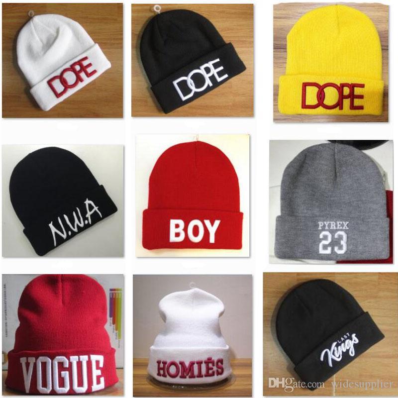 ea96c4c2224 13 Styles Hot Beanies Hats Hip Hop Winter Hat Street Men And Women In Sport Hats  Tide Brand Headgear Head Winter Hats Caps Straw Hats Crochet Hat From ...