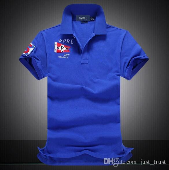 3a23622c114dc Famous Pony Man Racing Team Polo T-Shirts Custom Design Big Horse Country  Sailing Race Fit Cotton men Casual Polos Tees