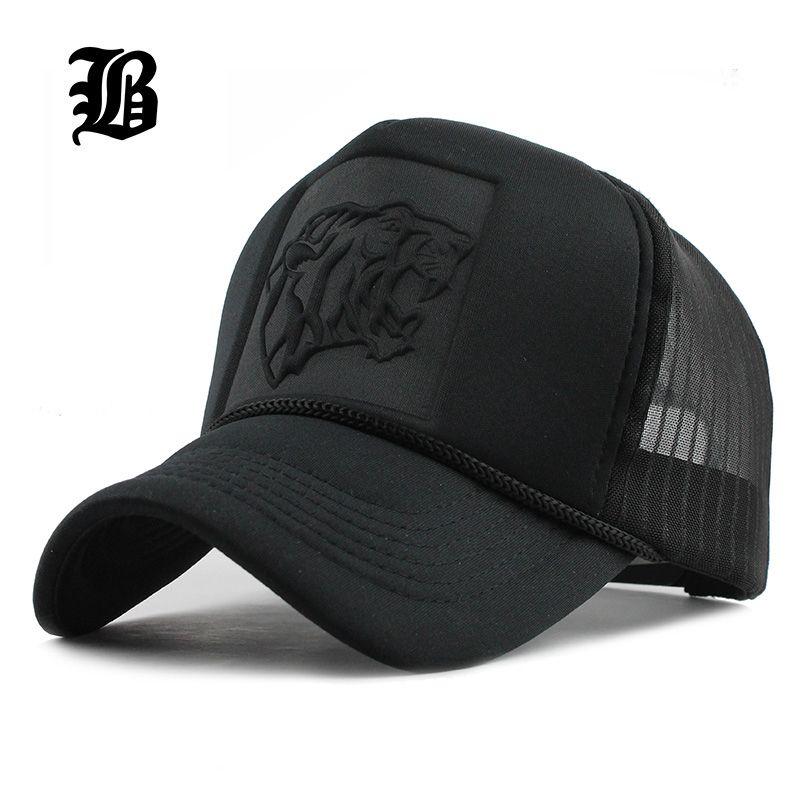 befbe46dbad FLB 2017 Hip Hop Black Leopard Print Curved Baseball Caps Summer Mesh Snapback  Hats For Women Men Casquette Trucker Cap Ny Cap Mens Caps From Crazyxb