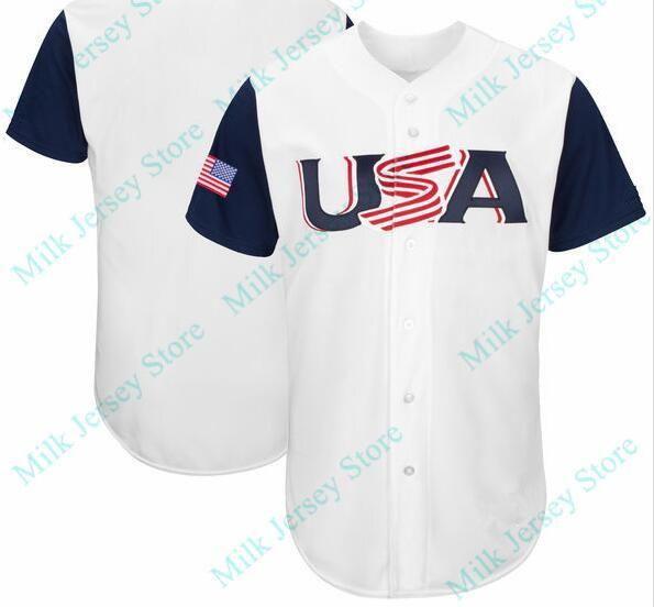 34000692756 2019 USA 2017 World Baseball Classic Jersey Marcus Stroman Eric Hosmer  Buster Posey Adam Jones Paul Goldschmidt Ian Kinsler From Milkjerseystore