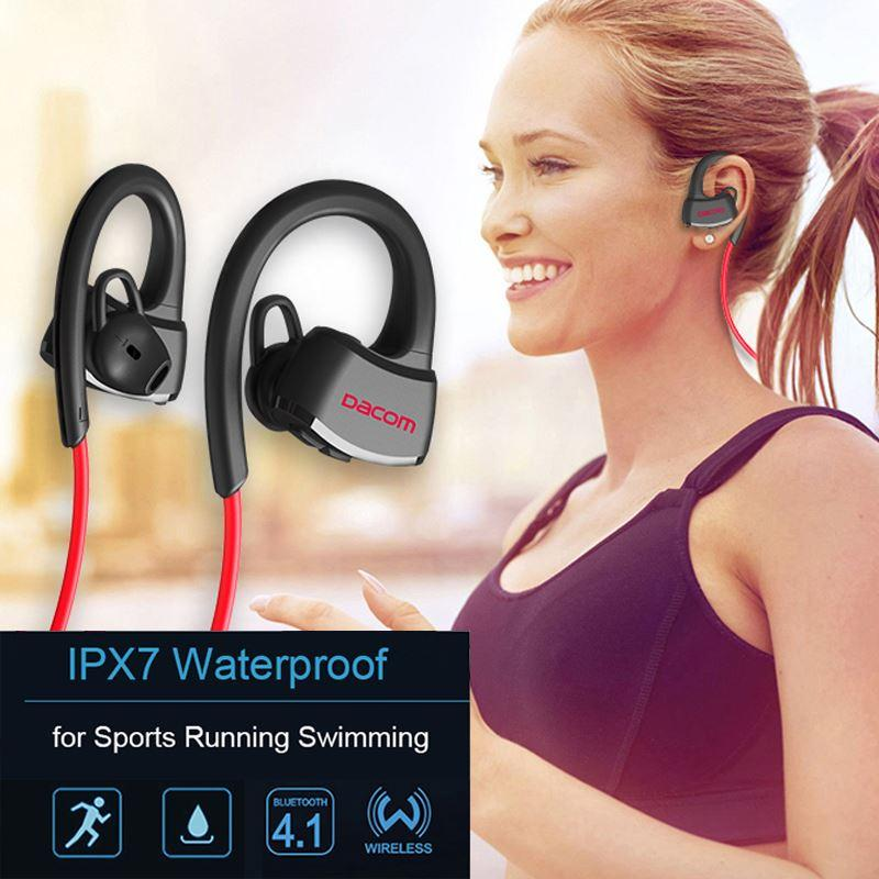 1cbfe2b6fe6 DACOM P10 Wireless Sport Headset IPX7 Waterproof Bluetooth Stereo Earphones  With Microphone Mic For Swimming/Music/Handfree Call Dj Headphones Gaming  ...