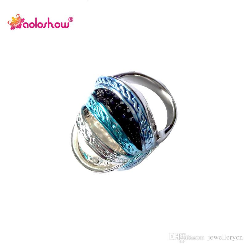 High quality jewellery cocktail rings for women enamel eye ring natural shell pearl rings jewelry antique rings   RN-386B