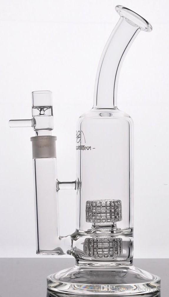 Мобиус стекло бонг стерео мазки травы нефтяные вышки двойной стерео Матрица Perc тяжелое основание fab стекло бонг трубы кальяны 18 мм суставов 12 дюймов в высоту