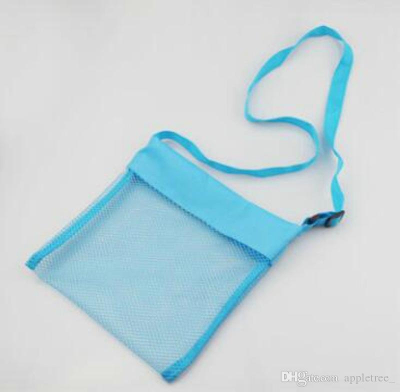 Kids Mesh Beach Bag Sand Toys Organizer Storage Bags Shell Pouch Receive Bag Children Sandboxes 2016 Boys Girls Baby Gifts wholesale