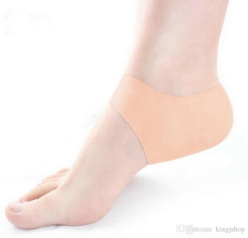 Горячая крышка каблук подушка силиконовые увлажняющий пятки трещины уход за ногами защитные инструмент носки гель носки с маленькими отверстиями 1 пара