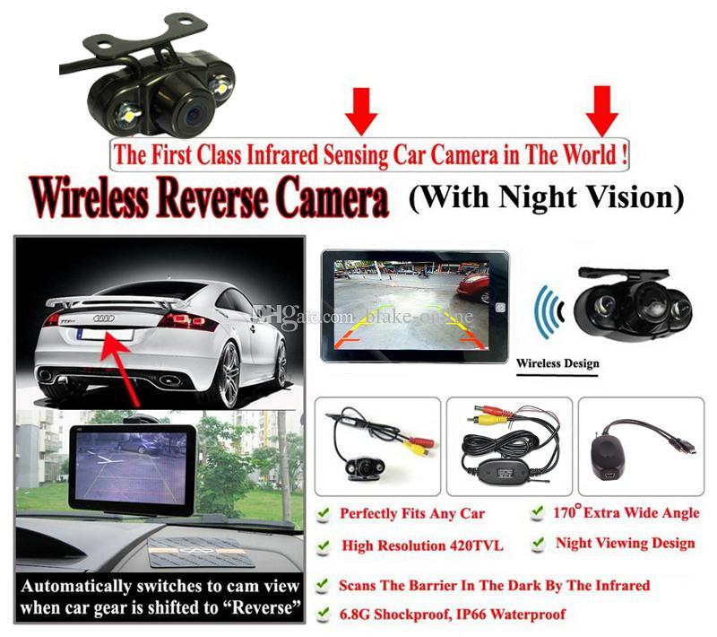 7 inç Araba GPS Navigasyon Su Geçirmez Gece Görüş Ile Bluetooth Handsfree Dokunmatik Ekran Navigator Kablosuz Dikiz Kamera 8 GB Yeni Haritalar