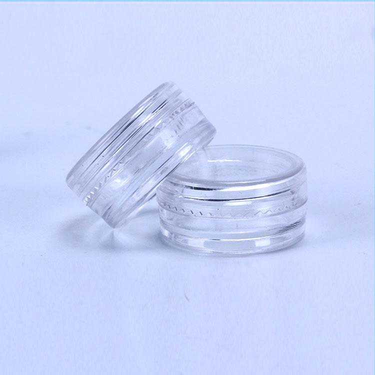2ML Clear Plastic Empty Jars Pot Clear Lid 2Gram Size For Cosmetic Cream Eye Shadow Nails Powder Jewelry E-Liquid