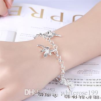 Groothandel - laagste prijs kerstcadeau 925 zilveren armband + oorbel set S17