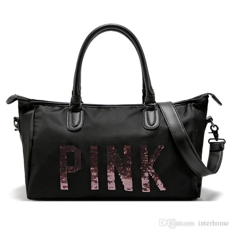 Women Vs Love Pink Handbags Travel Duffle Bag Yoga Sequins Totes ...