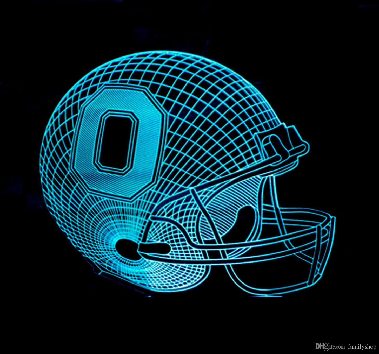 2018 Baseball Fan 3D Night Light Ohio State Team Buckeyes