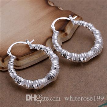 Vente en gros - Prix le plus bas cadeau de Noël en argent sterling 925 Boucles d'oreilles à la mode E139