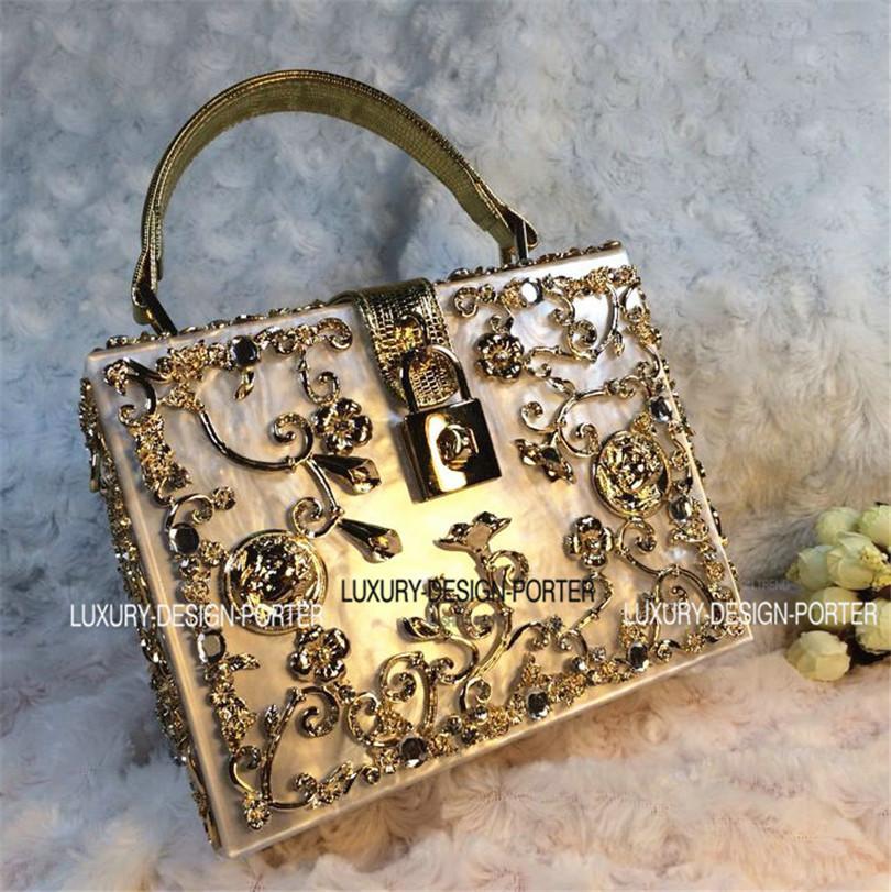 b0c605144956 Wholesale Luxury Designer Brand Hard Case Baroque Royal Handbag Runway Lady  Bag Purse With Handle Fashion Bags Designer Handbags On Sale From  Paradise11