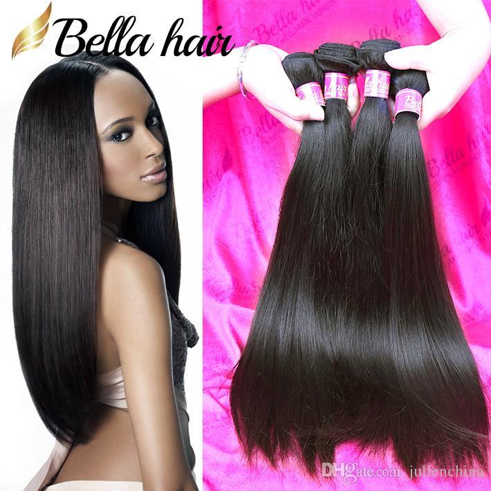Acquista Bella Hair® 8A Visone Capelli Brasiliani Bundles Nero Doppia Trama  Estensioni Dei Capelli Dritti 8 ~ 30in 4 Bundles Dritto Tessuto Dei Capelli  ... fbc752d4940d