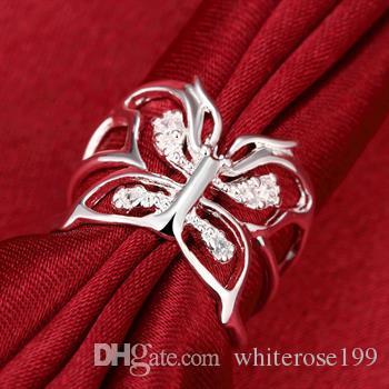 도매 - 소매 최저 가격 크리스마스 선물, 무료 배송, 새로운 925 실버 패션 반지 R35