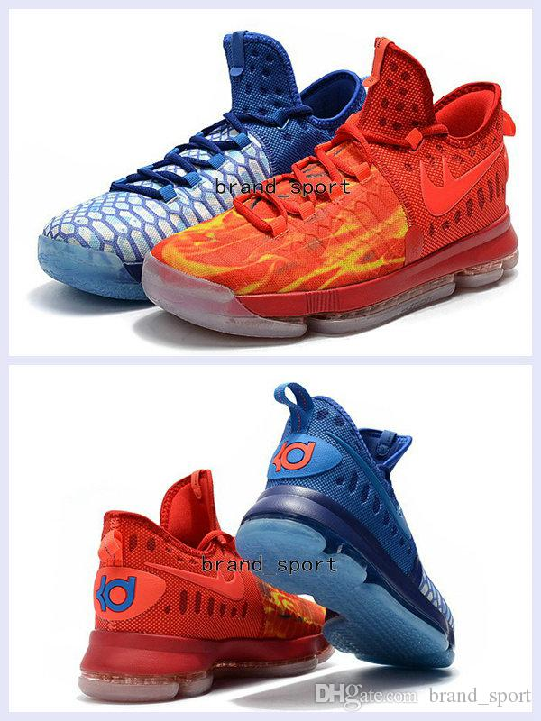 5c43cdc9fc6d 2017 New KD9 What The KD 9 Fire   Ice Basketball Shoes Men Cheap Kds Kevin  Durant 9 Sports Sneakers Size 40 46 Canada 2019 From Brand sport