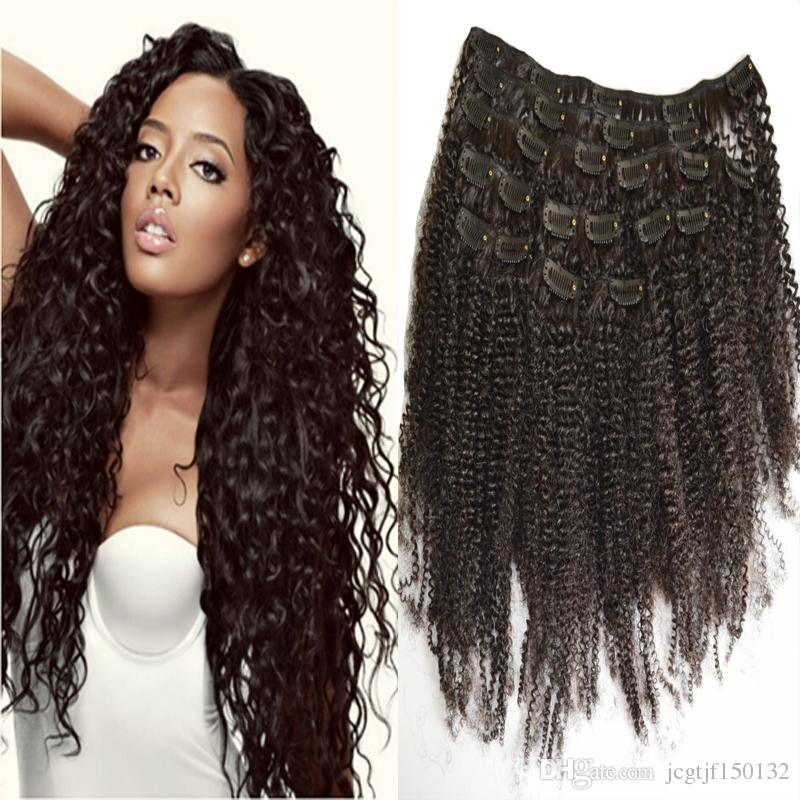 Clip In Human Hair Extensions For Black Women Afro Kinky Clip Ins
