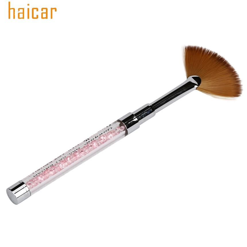 Wholesale Nail Brushes Haicar Colorwomen Fan Shape Acrylic Crystal ...