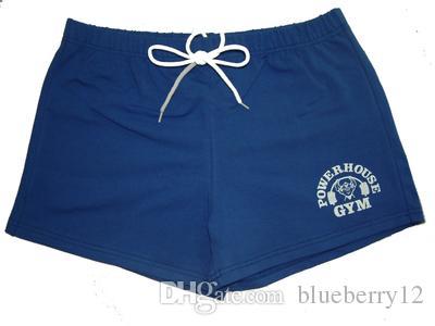 Marque 100% Short Gym coton hommes d'or Powerhouse Short Fitness Hommes culturisme entraînement Entraînement sportif Course à Pied Shorts