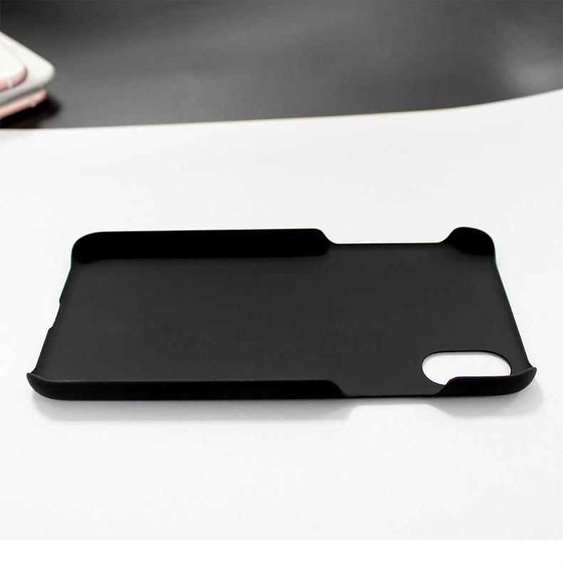 For iphone X 5.8 inch Case Plastic Matte Frosted PC Anti-Fingerprint Hard Black Back Cover Pure Color Material Case Skin Simple