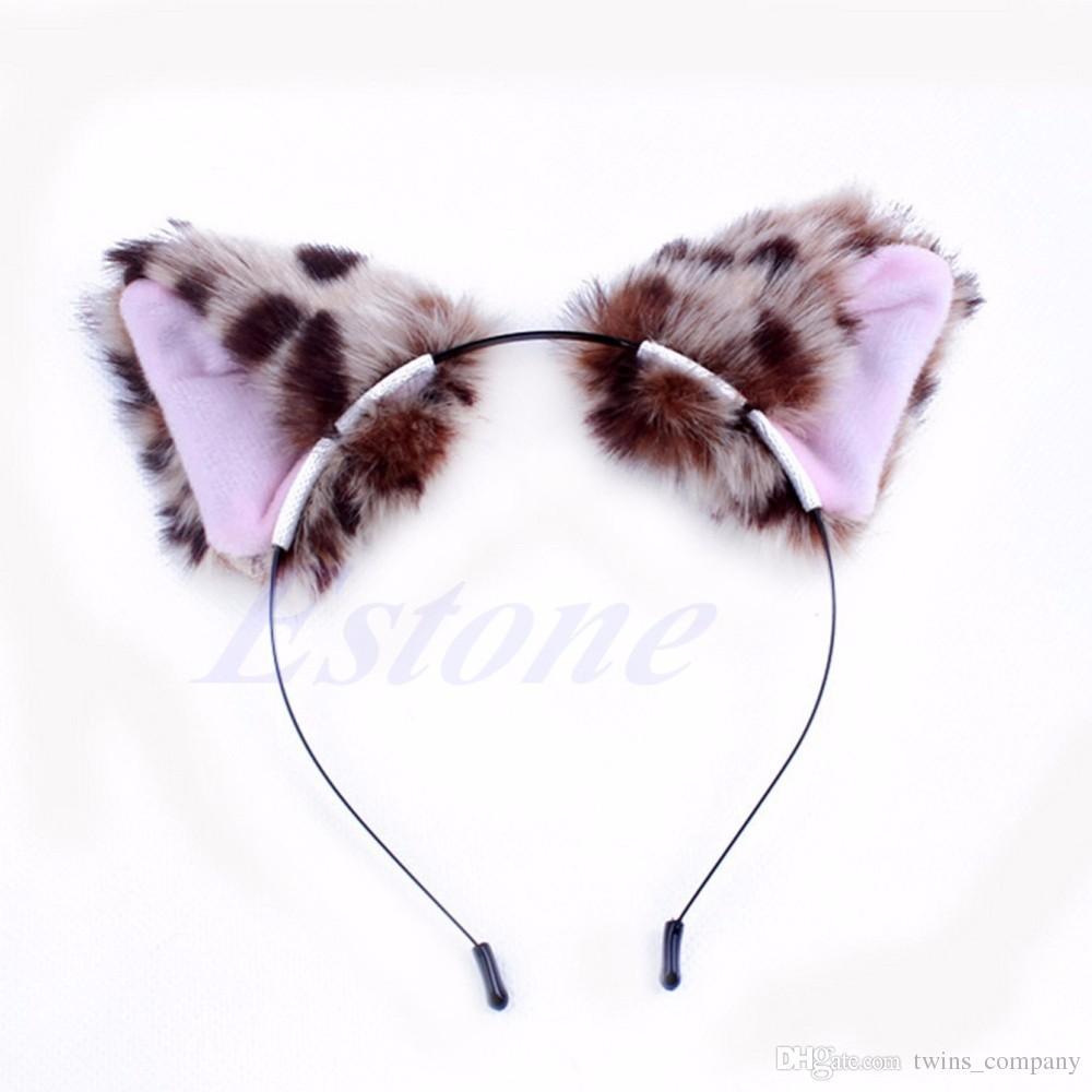 2017 Hair Accessories Girl Cute Cat Fox Ear Long Fur Hair Headband Anime Cosplay Party Costume