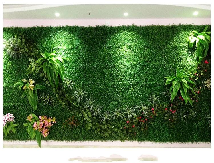 artificial plastic boxwood fake foliage grass mat 25cm*25cm outdoor