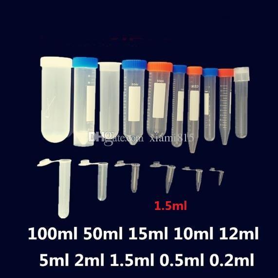 1.5ml Tubo de centrífuga Plástico blanco Vaso inferior Viales Tubos Suministros de laboratorio Contenedor de muestra de alta calidad