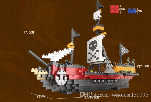 Pirate Ship Scrap Dock Building Blocks Compatible all DIY Construction Bricks Christmas gift For Children YH527
