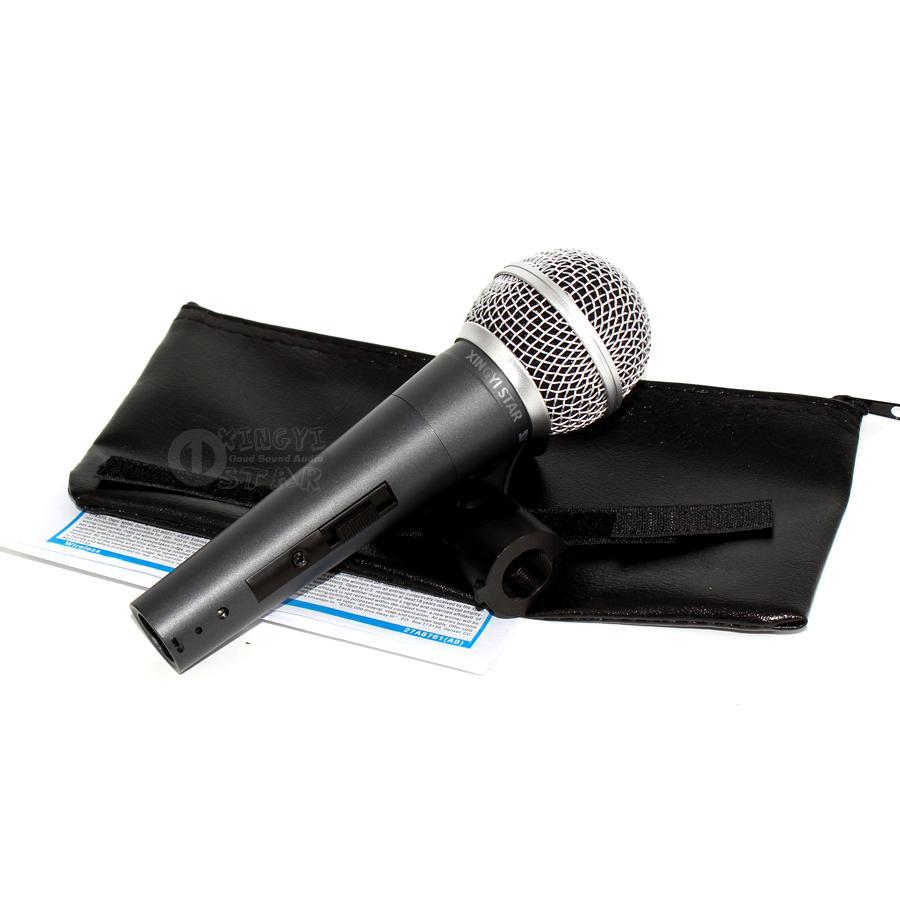 SM 58 58S 58SK SM58LC Anahtarı Karaoke Mic Kardioid Vokal Dinamik Kablolu Mikrofon Mikrofon Fio Mikrofono El Hareketli Bobin Mike Mikser